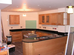 The kitchen after the project has been completed